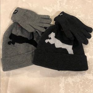 NWT puma kids/ youth hat/ gloves set  Size-4/7